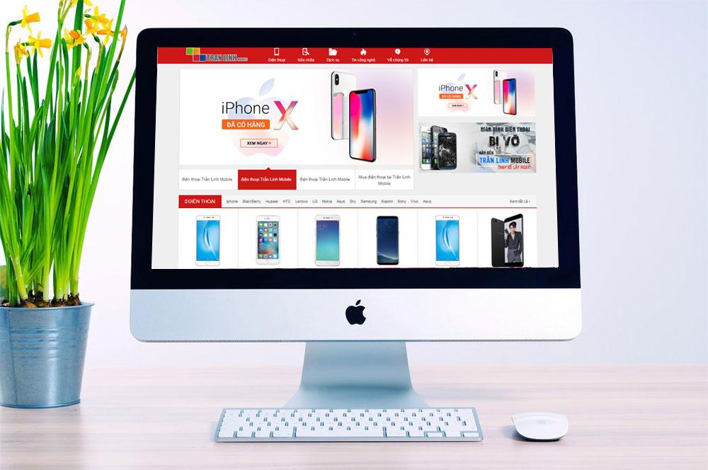 thiết kế web bán điện thoại, máy tính, laptop giá tốt tại Hải Phòng