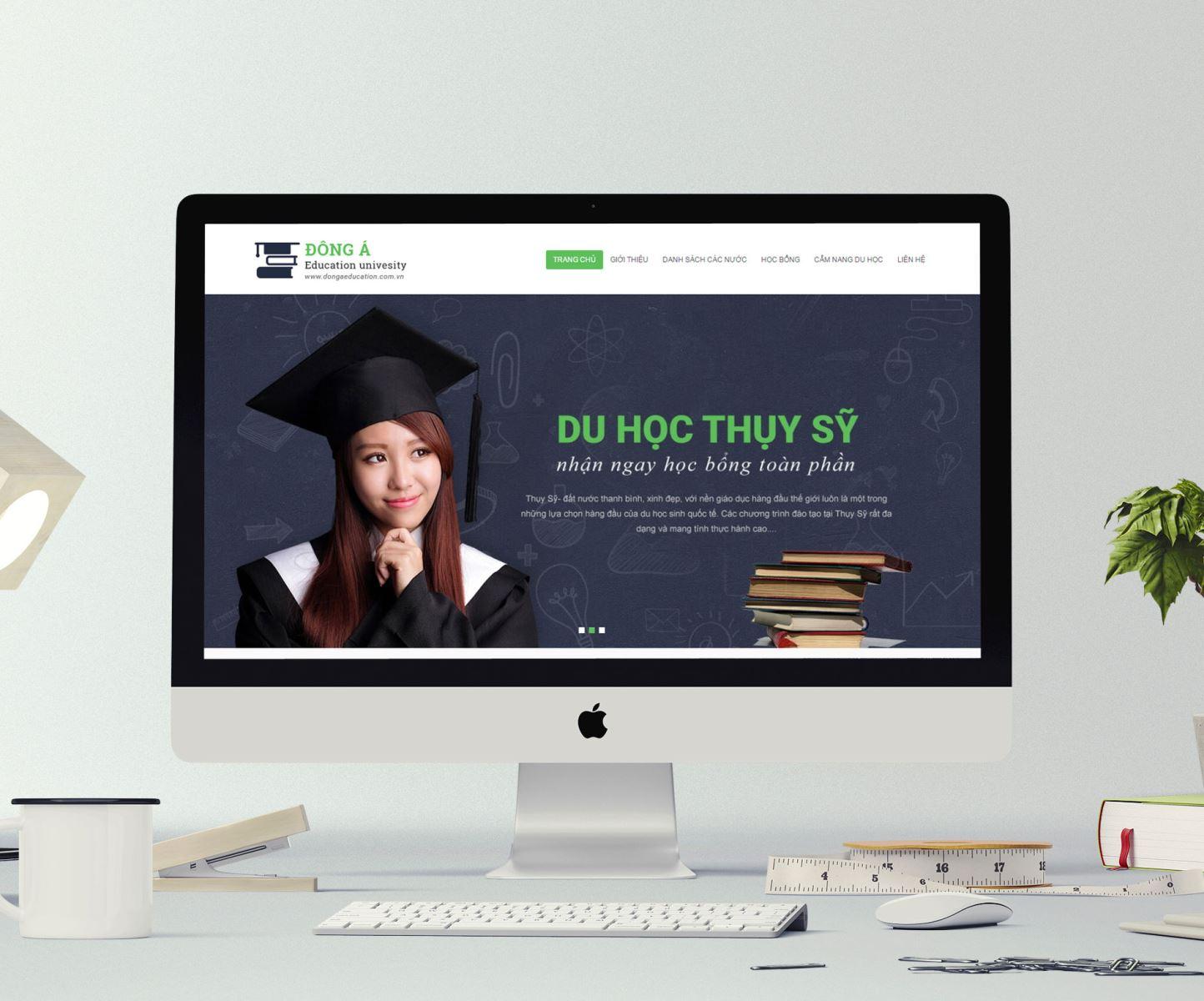thiết kế trang web du học đẹp chuẩn SEO