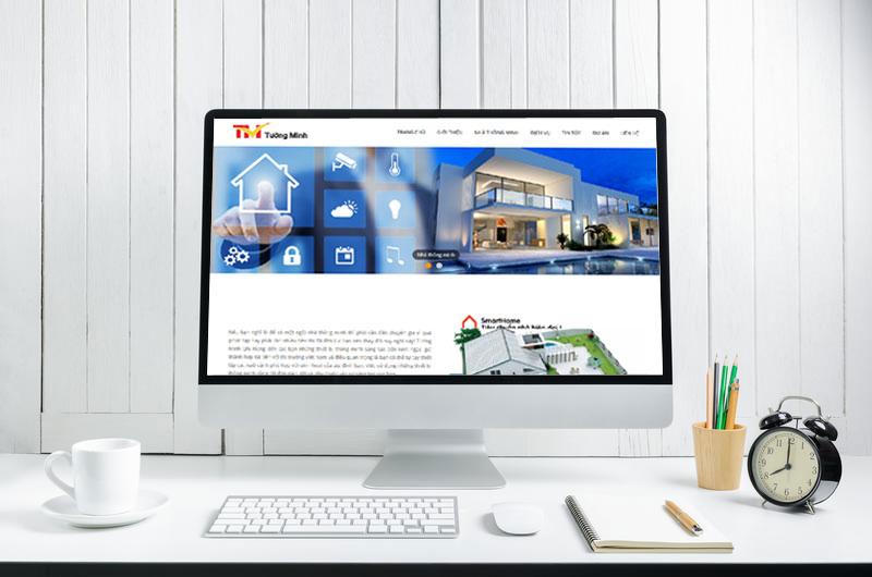 thiết kế web bán thiết bị nhà thông minh