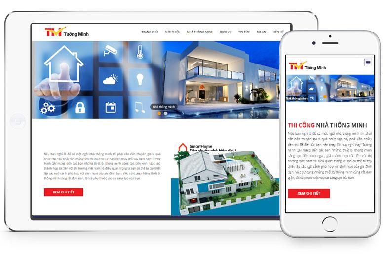 thiết kế website bán thiết bị nhà thông minh