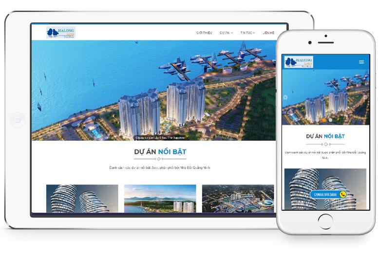thiết kế webdite bất động sản đẹp tại hải dương