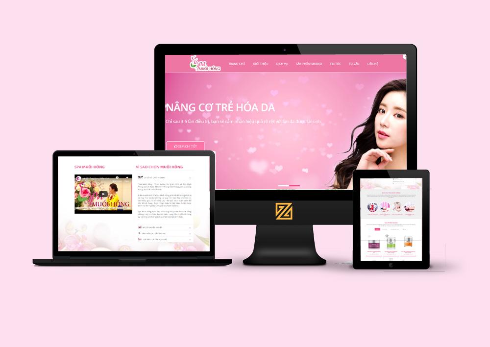 mẫu thiết kế website spa làm đẹp chuẩn SEO