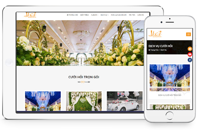 thiết kế website dịch vụ cưới hỏi trọn gói