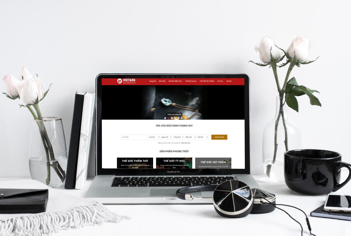 Kết quả hình ảnh cho thiết kế website bán đồ phong thủy